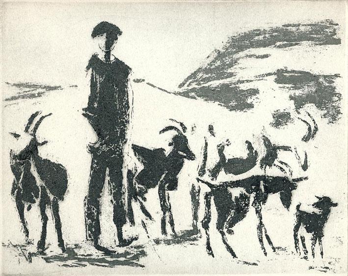 Birgit Horota-Müller: Rumänischer Ziegenjunge, Reservage