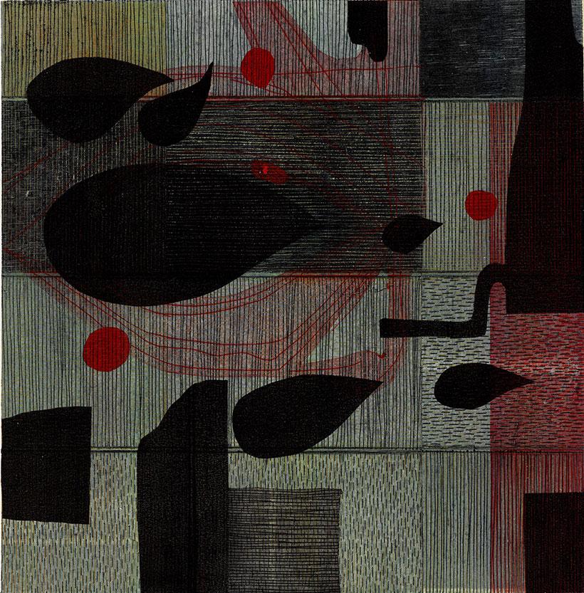 Georg Bothe; Carbona not Glue XLV, e.a. I-VI, 2020, 30,5 x 30,5 cm