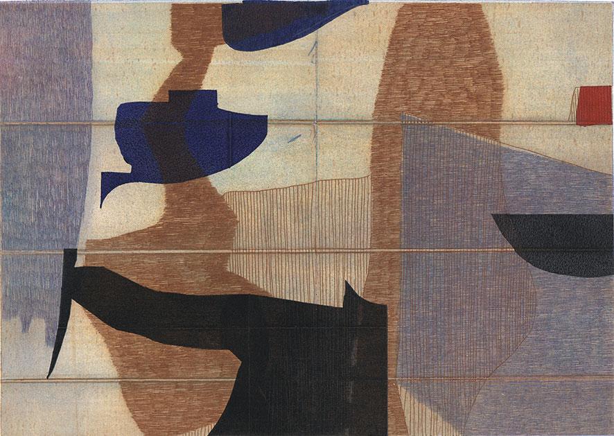 Georg Bothe: Carbona not Glue XXXIX, e.a. II-VI, 2019, 30,5 x 42,5 cm