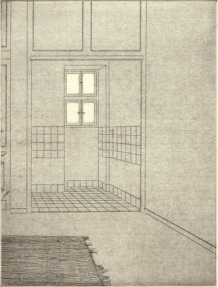 Tiago Cutileiro: Interior, Strichätzung und Aquatinta, 2017