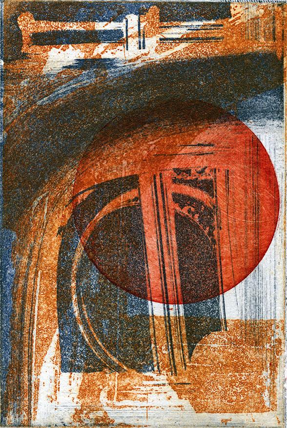 Florian Wolf: Kleiner Mond im  Zimmer, Mischtechnik