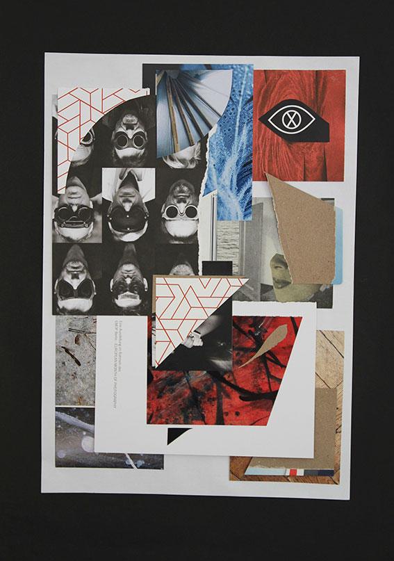 Florian Wolf: Transitzone Bhf.Lichtenberg 1, 2020, Collage
