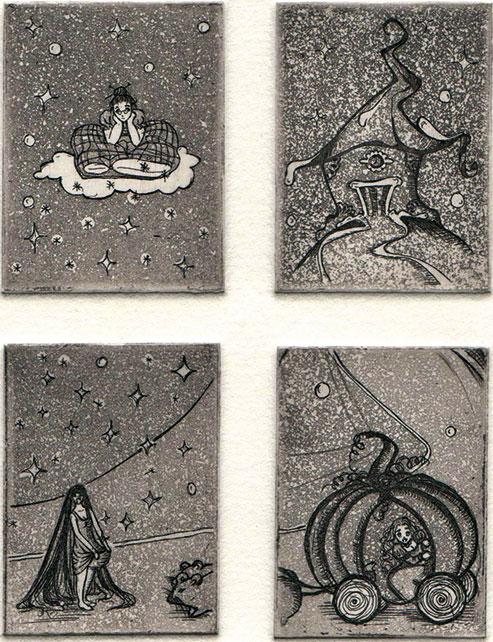 Franziska Deregoski: Es war einmal…, 2013, Strichätzung, Aquatinta