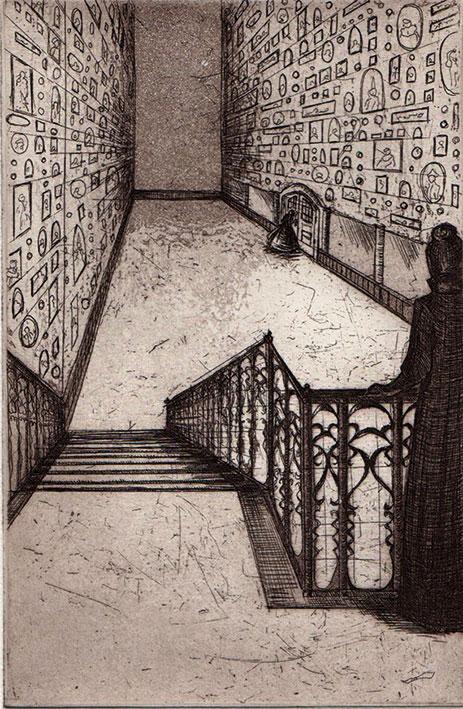 Franziska Deregoski: Der Traum, 2013, Strichätzung, Aquatinta