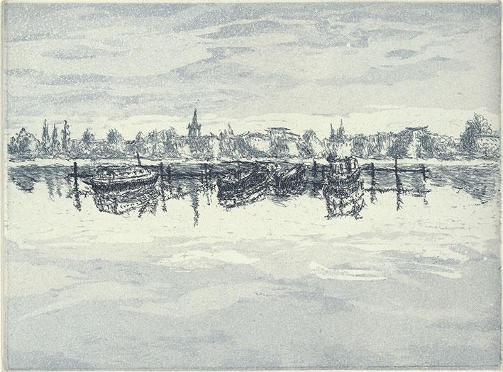 Hilmar Grey: Rummelsburger Bucht, 2016, Strichätzung und Aquatinta