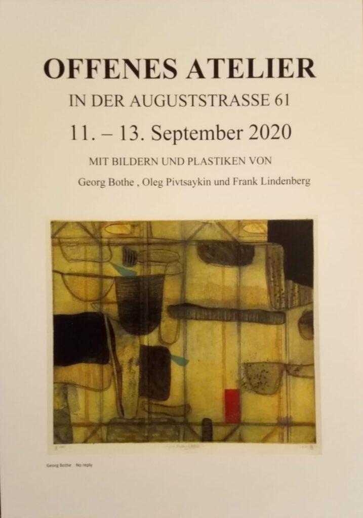 Georg Bothe im Offenen Atelier von Frank Lindenberg