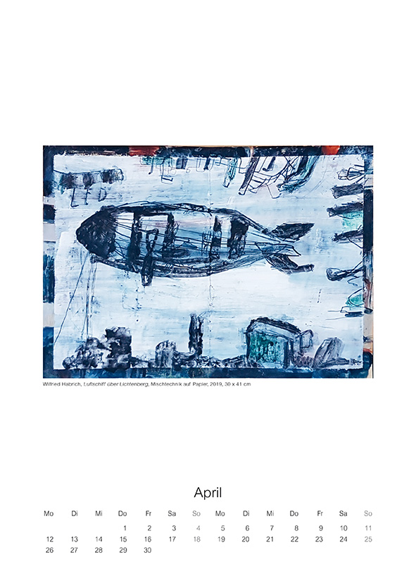 Kunstkalender 2020 des Graphik-Collegiums Berlin e.V. - Künstlerische Zeitspuren - April