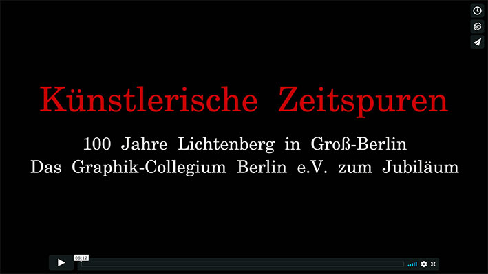 """Auf Vimeo:  Video """"Künstlerische Zeitspuren"""" von Graphik-Collegium Berlin e.V. und Tiago Cutileiro"""